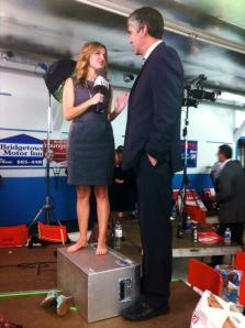 While interviewing Nova Scotia premier Stephen McNeil on election night, a Sun News reporter needed quite the boost.
